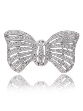 Octavia's Crystal Bow Brooch  | Brooches