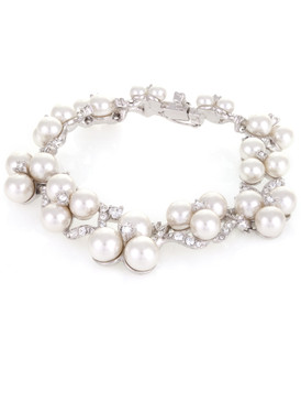 Betsey's Floral Crystal & Pearl Bracelet 4 | Bracelets
