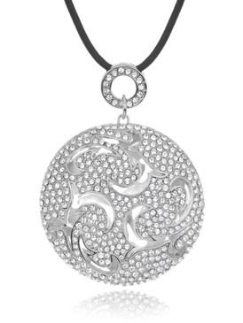 Calla's Floral Crystal Ball Necklace 4 | Necklaces