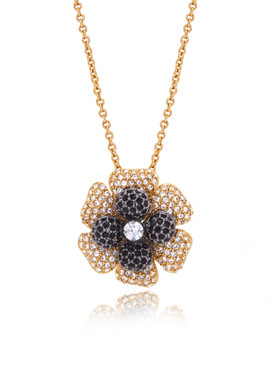 Double Flowers Crystal Pendant  | Pendants