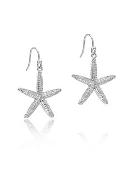 Silver-tone Starfish Earrings, Wholesale Fashion Jewelry & Prom Accessories | Shop JGI Jewelry