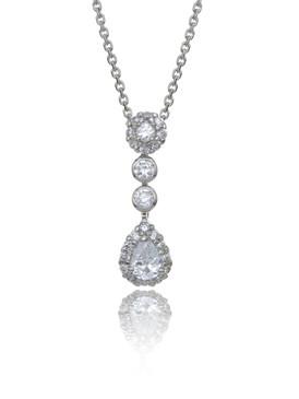 CZ Teardrop Pendant, Wholesale Cubic Zirconia Special Occasion Jewelry & Prom Accessories | Shop JGI Jewelry