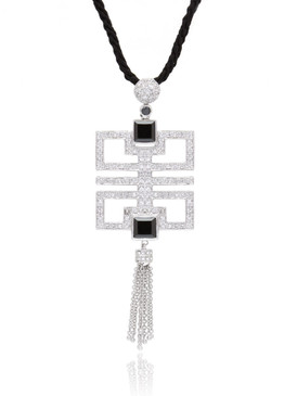 Crsytal Square Tassel Pendant, Wholesale Fine Fashion Jewelry & Prom Accessories | Shop JGI Jewelry