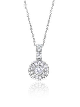 CZ Bridal Pendant, Silver-tone Cubic Zirconia Wedding Accessories & Wholesale Prom Jewelry  | Shop JGI Jewelry