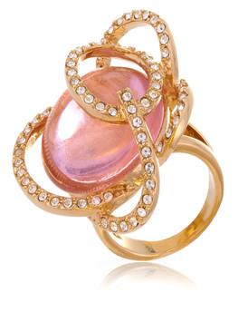 Rosy CZ Gold Ring   JGI Jewelry