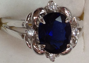 Montana CZ Rhodium Ring 10363