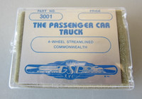 New GSB #3001 HO Passenger Car Pair Trucks 4-Wheel Streamlined Commonwealth NIB
