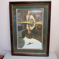 Pencil-Signed Numbered Print Bev Doolittle GOOD OMEN #371/1,000 Framed