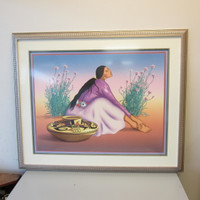 Pencil-Signed Numbered Lithograph Print Rudolph Carl Gorman ESPERANZA I #68/150
