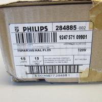 Sealed Case 15 New Philips 284885 75PAR30S/HAL/FL25 120v Halogen Lamps NIB