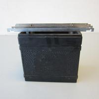 Vintage Kodak Hard Rubber Developing Tank 4x5 w/4 Hangers