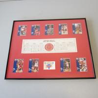 NBA Chicago Bulls 1990/1991 Championship Dream Team 9 Fleer Cards Jordan Pippen Framed