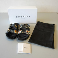 Authentic Givenchy MAGNOLIA & BUTTERFLY Leather Sandals EU 40 US 10 OB