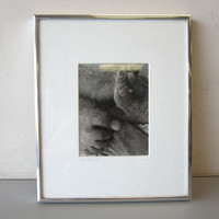 "Pencil Signed Rick Preston 1973 Photo ""Feet"" in Sand Beach 4-1/2"" x 6"" Framed"