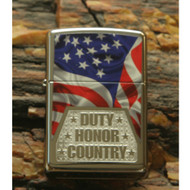 Duty Honor Country Flag Hi Polish Zippo