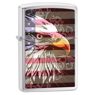 Eagle Head with Flag Zippo