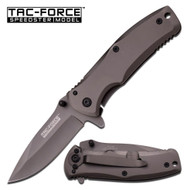 Tac Force Gray Coated Spring AO Knife