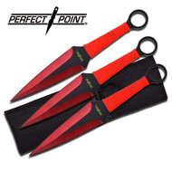 Throwing Knife Red 3pc Perfect Point