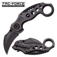 Stonewash Karambit AO Pocket Knife