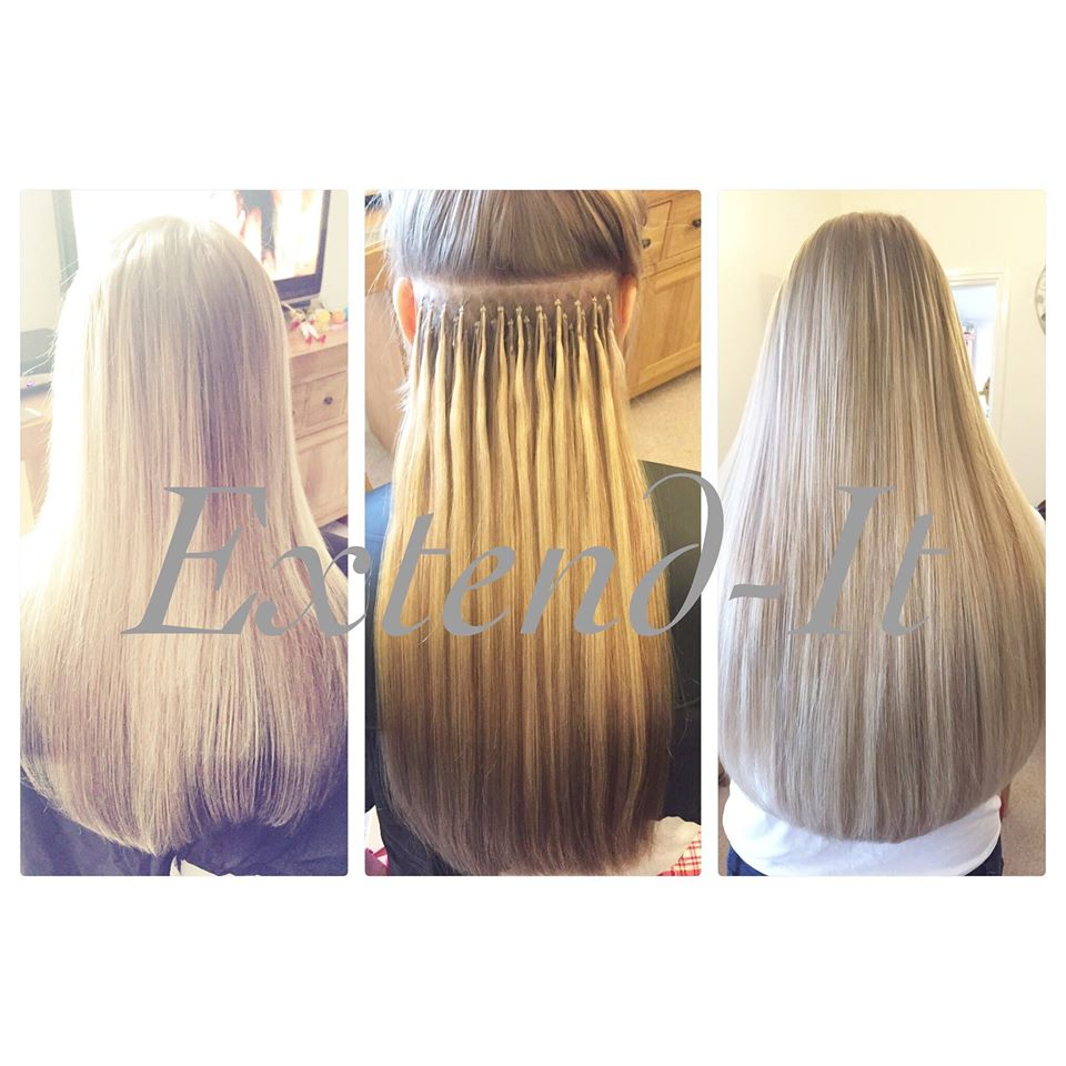 Nano tip hair extensions extend it extensions bristol prestige nano ring hair extensions before during and after extend it extensions bristol pmusecretfo Images