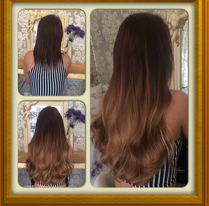 Before and after ombre hair extensions leeds prestige hair ombre micro ring hair extensions leeds pmusecretfo Images