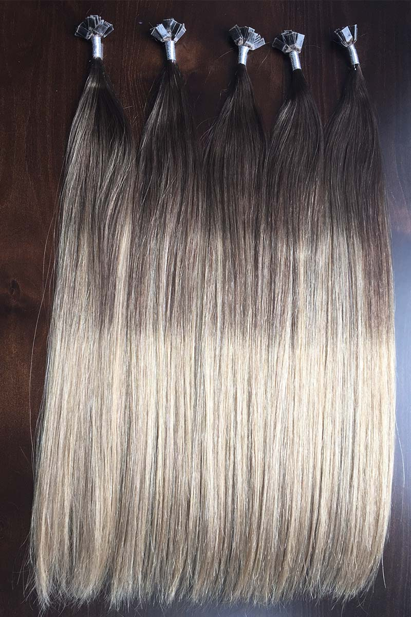 Black to Gre... Ombre Weave