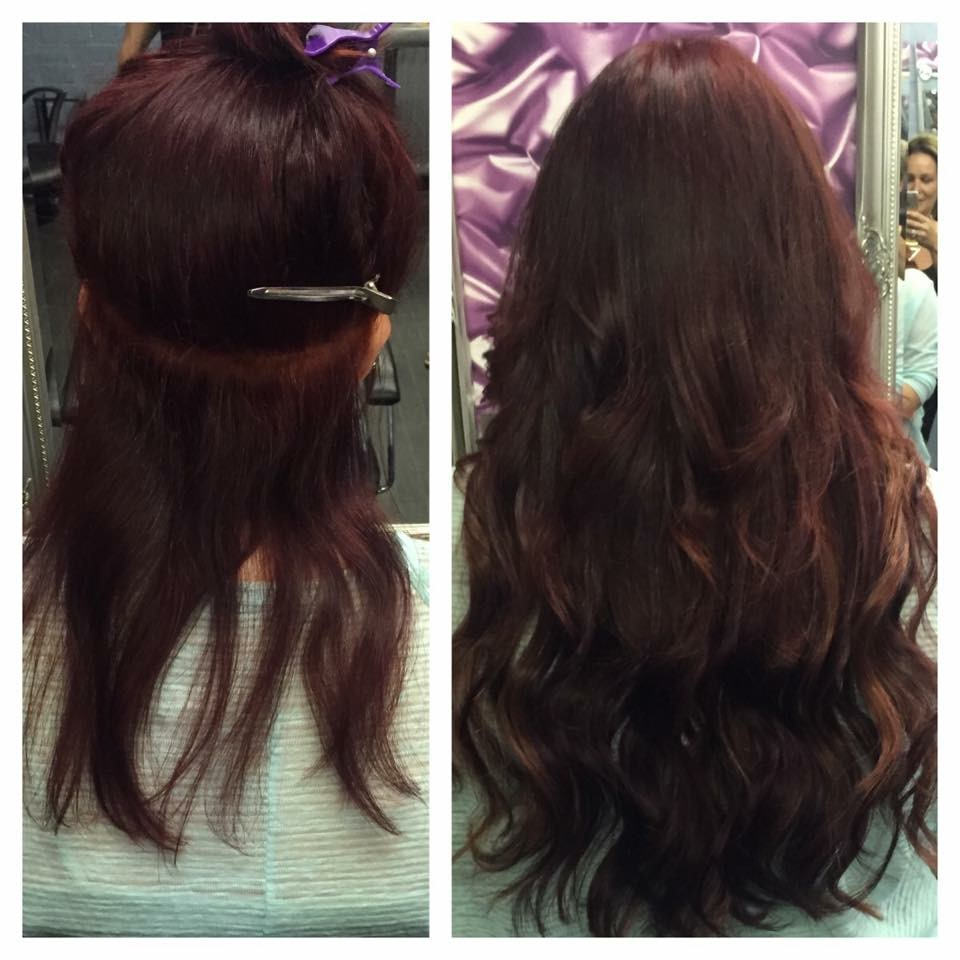 Achieving the perfect colour match at prestige hair extensions mahogony red hair extensions blend prestige hair extensions manchester pmusecretfo Choice Image
