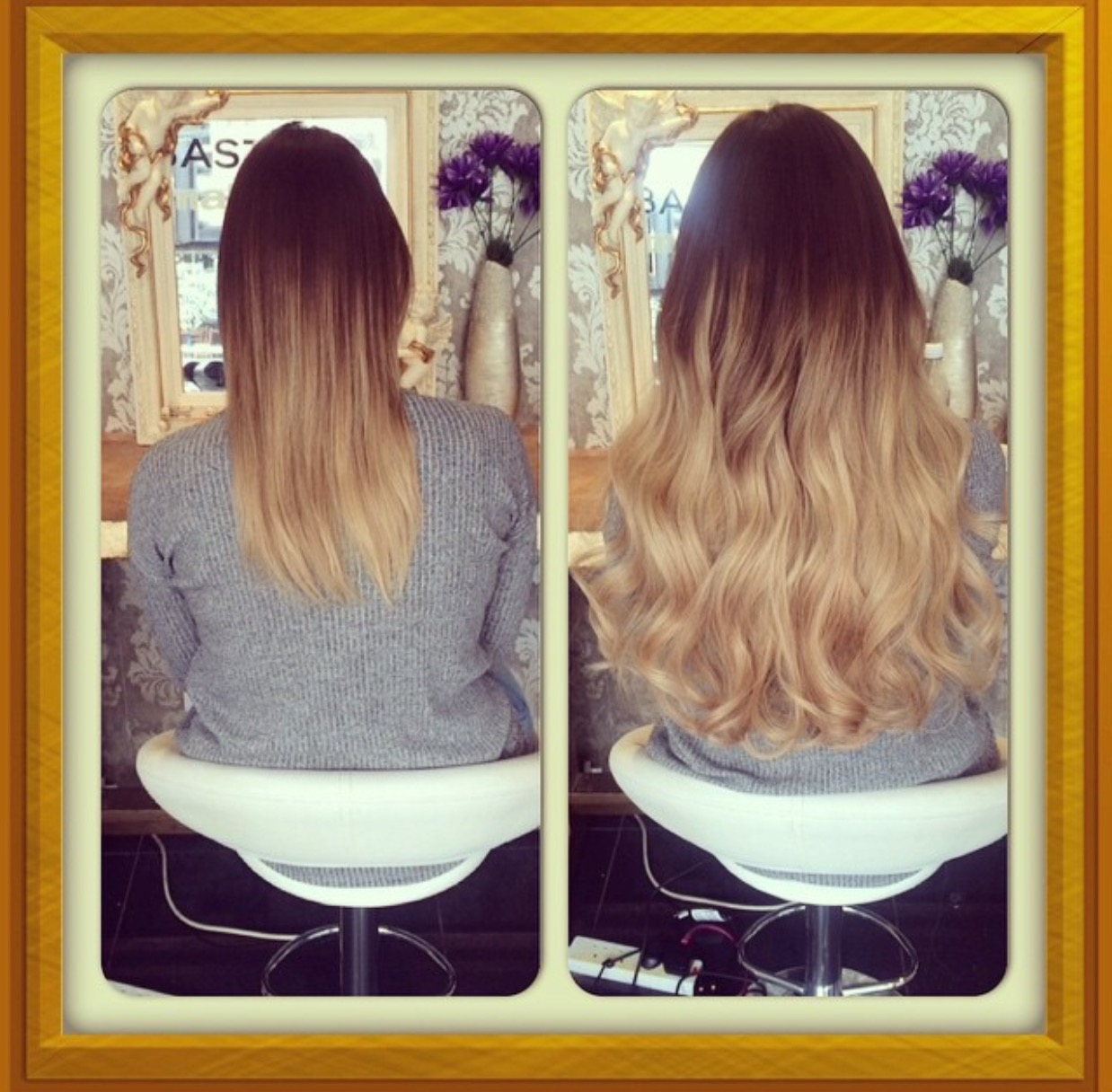 Before And After Ombre Hair Extensions Leeds Prestige Hair Extensions