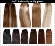 One Piece Clip In Weft Double Drawn Hair Extensions Remy AAAA Russian Standard