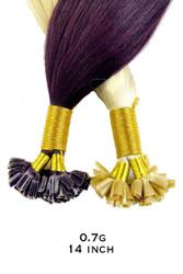 0.7g 14 inch Russian Standard Hair Extensions Italian Keratin Nail U Tip Remy AAAA