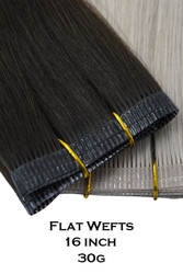 Double Drawn Flat Weft - 16 inch 30g