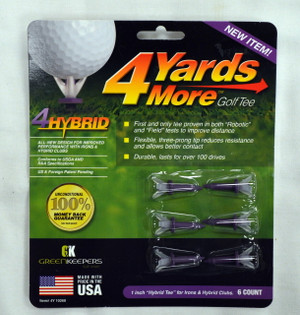 "4 Yards More Golf Tees 1"" - Purple"