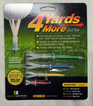 4 Yards More Golf Tees Combo Pack