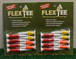 "Flex Tees 2 1/4"" 2 1/2"" 3"" Golf Tees - Red, Orange, Yellow - FT726317"