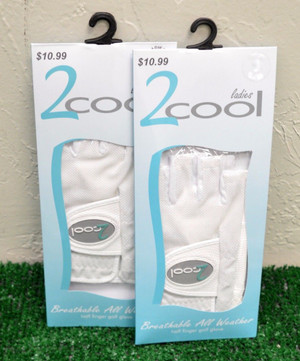 2 Cool Breathable Fingerless Ladies Golf Gloves