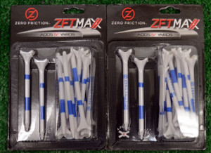 "Zero Fiction ZFT Maxx 4 Prong White Golf Tees 3 1/4"" (ZX25005)"