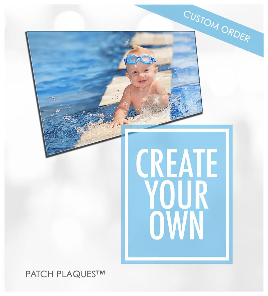 Custom Acrylic Photo Print - Weddings, Baby, Happy Memories, Pets, Gifts | Wood & Acrylic Patch Plaques