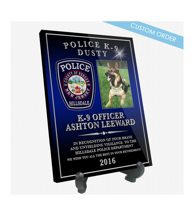 """Patch Plaques can make any Patch, Badge, Seal, Logo or Artwork into a beautiful Wood & Acrylic Desk Plaque.  Cut To Shape! These """"Stunning"""" Plaques also come with an Easel stand... Free Shipping and Free Setup!  Government Agencies Sample."""
