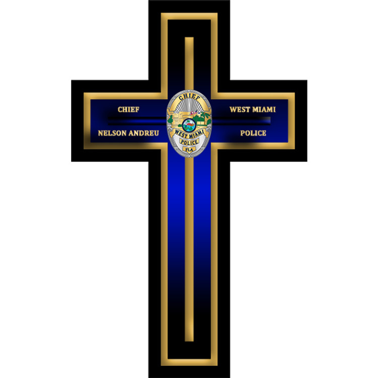 CUSTOM CROSS PLAQUE (Blue)
