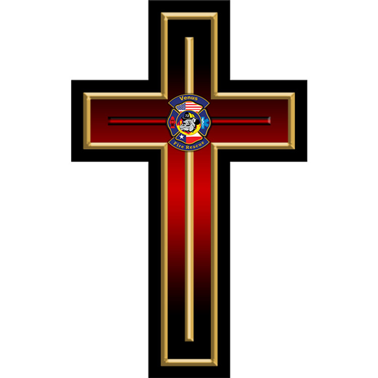 CUSTOM CROSS PLAQUE (RED)