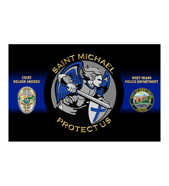 ST MICHAEL PROTECT US - (BLUE)
