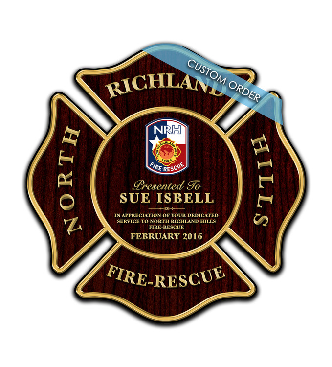 RECOGNITION PLAQUES FIRE RESCUE MALTESE CROSS