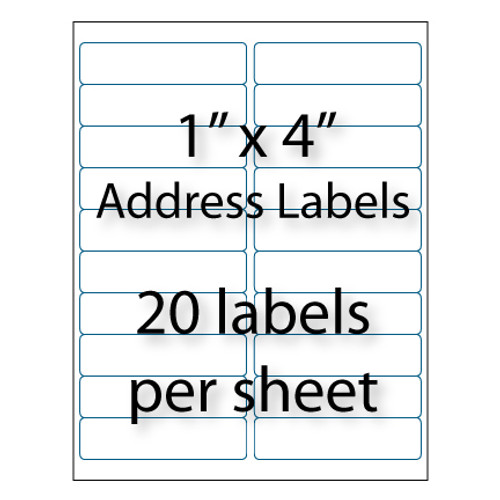 """Avery Address Labels 8161 Template: Address Labels - 4"""" X 1 """""""