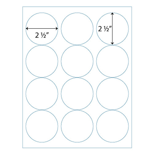 Wholesale 2 5 round labels avery 5294 compatible stik2it for Avery 2 round label template