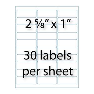 "Address Labels - 2-5/8"" x 1 "" | 30-up | Avery® 5160 ..."