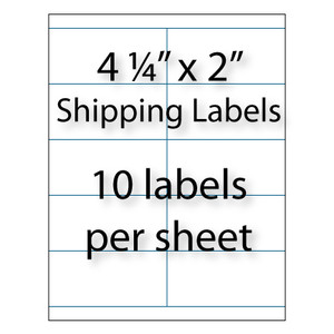 Wholesale x 2 blank shipping labels avery 5352 for Avery 5352 template