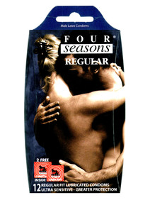 Four Seasons Regular Condoms 12 Pack - Buy Condoms Online