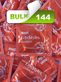Ansell Lifestyles Closer Fit 49mm Condoms (144 Bulk) - Buy Bulk Condoms Online