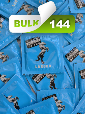 Four Seasons Larger 60mm Condoms (144 Bulk) - Buy Bulk Condoms Online