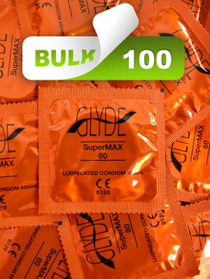 Glyde SuperMax 60mm Condoms 100 Bulk  - Buy Bulk Condoms Online